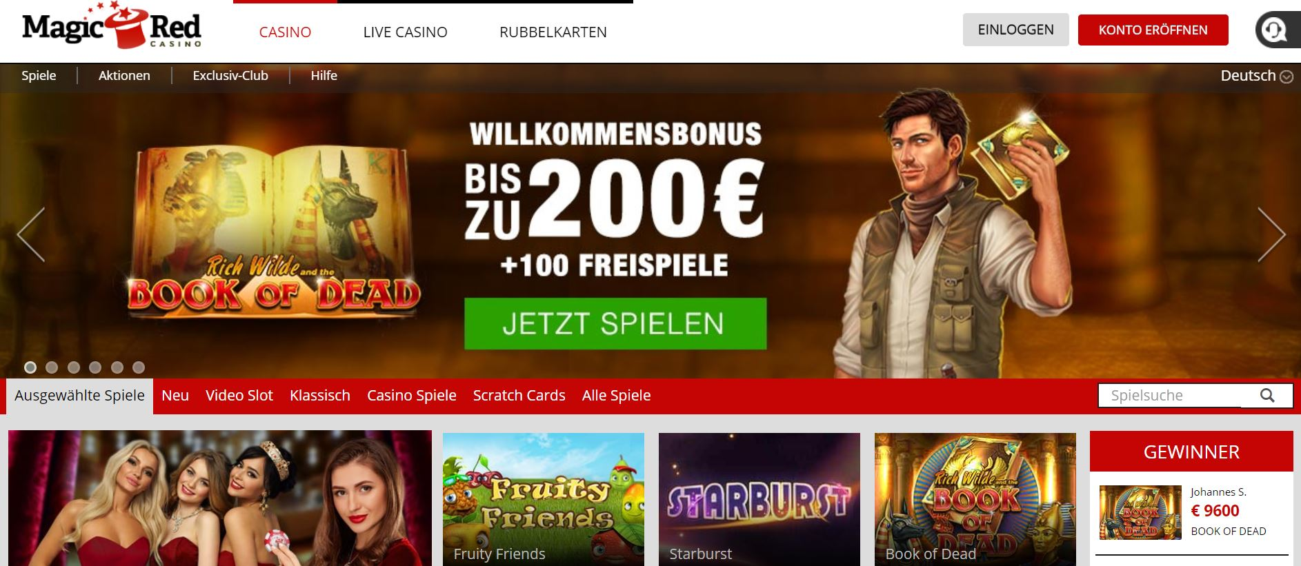 Magic Red Casino Vorschau